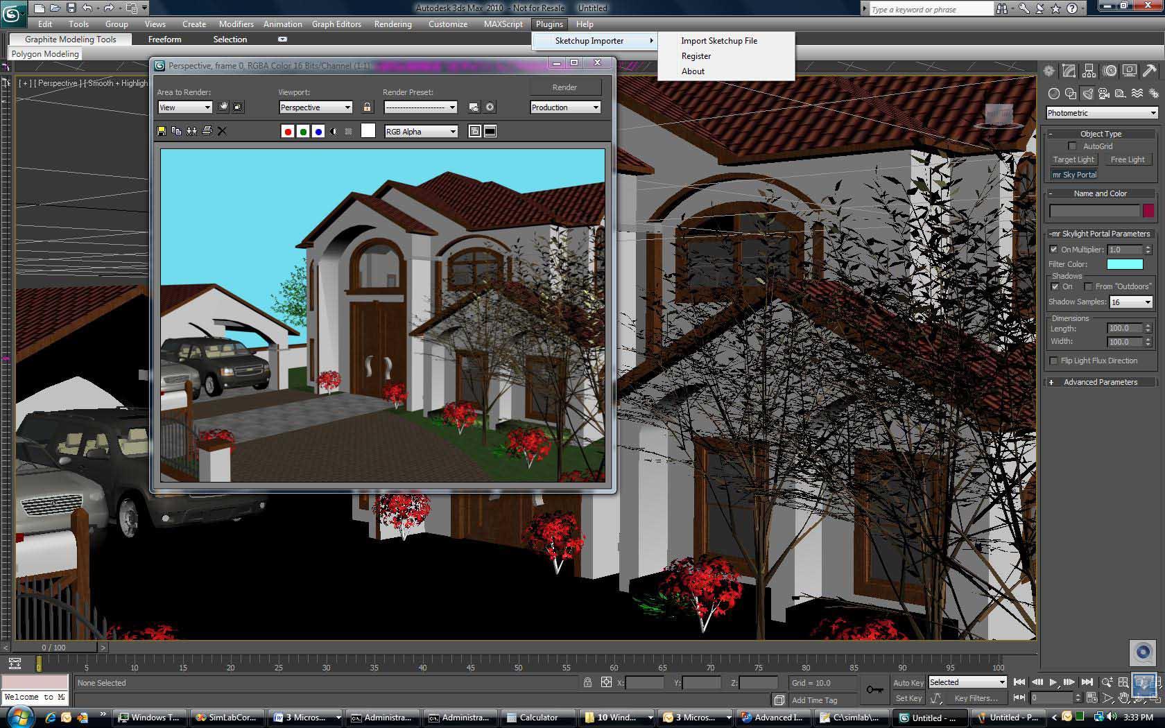 Grafica 2d 3d istituto leonardo da vinci for Software per rendering